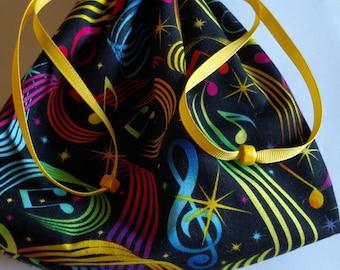 Drawstring bag, cosmetics bag, travel bag