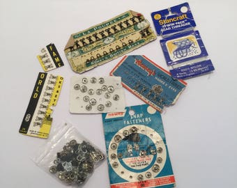 Vintage 1950s Collection Of Hooks and Eyes and Snap Fasteners