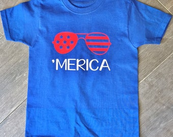 Merica shirts, boys and girls, 4th of July, 'Merica