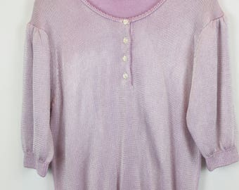 Vintage Sweater, Vintage Knit Pullover, 80s, 90s, lilac, oversized look
