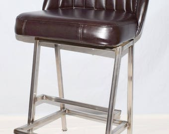 Contour Back Bar Stool