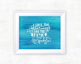 """THE FRONT BOTTOMS """"Cough It Out"""" Calligraphy Lyrics Print"""