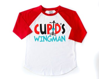 valentines day shirt boys valentine shirt valentine raglan cupids wingman shirt toddler