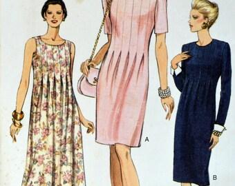 Uncut 1990s Vogue Vintage Sewing Pattern 9171, Size 12; Misses' Dress