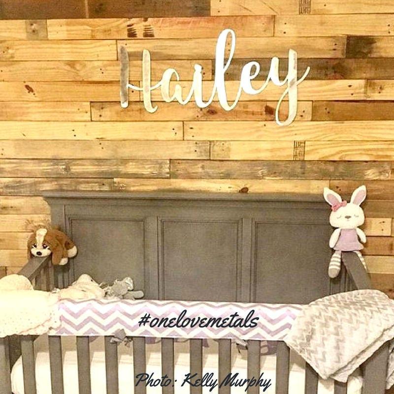 Cursive Name, Nursery Name Sign, Girl Nursery, Baby, Name Sign ...