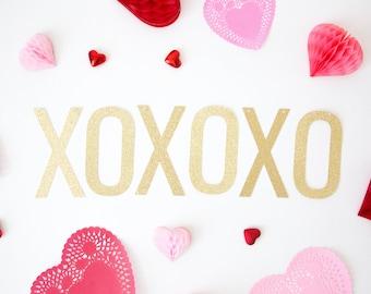 XOXOXO Banner   Glitter Valentines Day Banner, Valentine Decor, Wedding  Banner, Engagement Banner