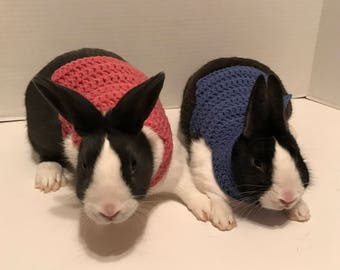 Rabbit Clothes, Rabbit Sweater, Rabbit Costume, Sweater for Bunny, Clothes for Rabbit, Bunny Clothes, Halloween Costume, Crochet Sweater