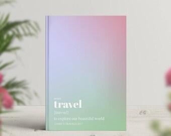 Bucket List Notebook, Travel Journal, Traveller Journal, Wanderlust Notebook, Adventure Book, Explore, Colour Notebook, Unusual Travel Gift