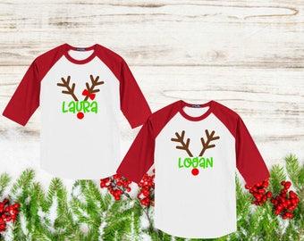 Reindeer t shirt  Etsy