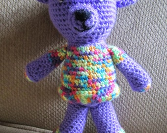 Handmade, Crocheted Lady Teddy Bear