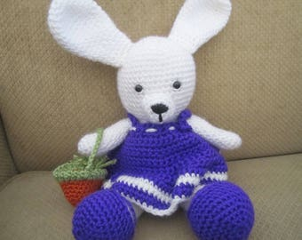 Dress Up Girl Bunny, Handmade, Crocheted