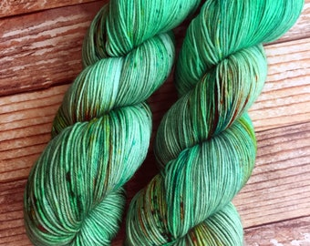 Isabel - Green Goblin OOAK - Hand Dyed Yarn - 75/25 Superwash Merino/Nylon