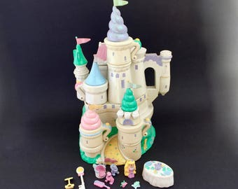 Vintage Trendmasters Castle Starcastle Teacup Collection Magical Tea Party Playset Near COMPLETE 1995 Polly Pocket 90s Girl 1990s Compact