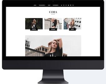 Cora | Responsive Blogger Template + Free Installation
