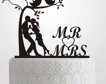 Mr. & Mrs. cake topper or flower center piece