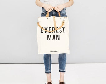 EVEREST MAN Canvas Tote Bag