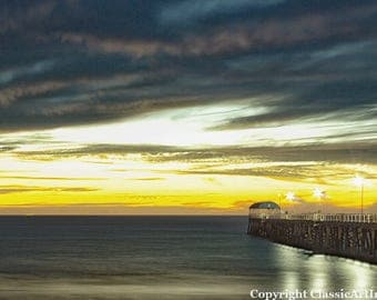 Sunset Wall Art, Sunset Photo, Coastal Wall Art, Landscape Photo