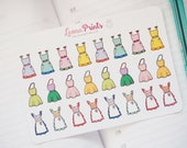 Cooking Aprons Planner Stickers | Stationery for Erin Condren, Filofax, Kikki K and scrapbooking