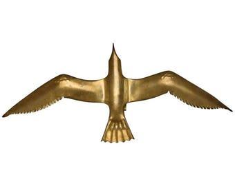 Large Italian Brass Seagull Wall Light or Sculpture [7862]