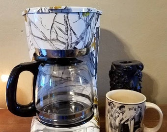 New True Timber Snowfall Camouflage Camo Black and Decker 12 cup Programmable Coffee Maker Coffee Pot