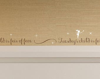 Nursery Rhyme Wall Decal - Mother Goose Wall Decal