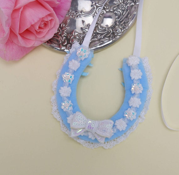something blue ideas/ wedding horseshoe/ lucky horseshoe/ wedding keepsake/ good luck charm/ lucky horshoes/ bridal gift/ wedding