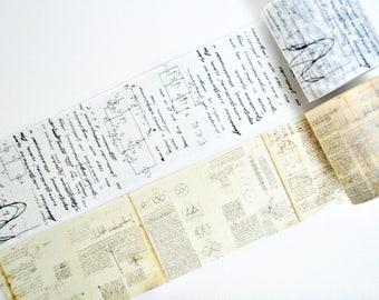Vintage Handwritten Notes Washi Tape, Japan Masking Tape, Planner Stickers - WT393