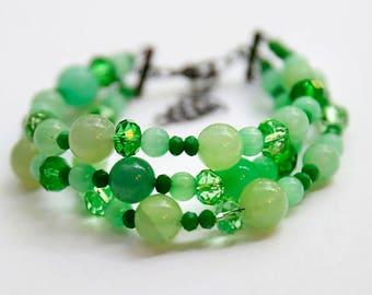 """Bracelet """"The Green of Spring"""""""