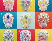 Sugar Skull Patch, Sew on Patch, Stitch on patch, Mexican Day of the Dead, Halloween, Gothic, Festival, Christmas Gift, Stocking Filler