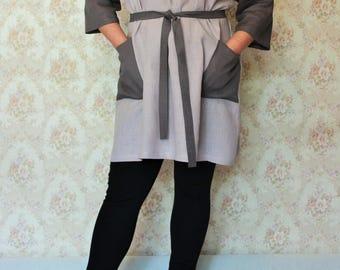 Linen Tunic Dress,Woman Linen Dress,Linen Tunic with pockets,Linen Womens clothing,Linen Dress Tunic clothes for Wome,Handmade Dress Tunic