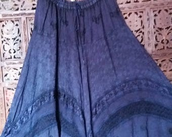 Purple hippie skirt stunning wide sweep plus size