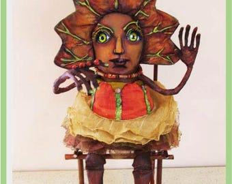 SE525E -   Autumn Tennytwo, Cloth and Paperclay Art Doll Making Pattern - PDF