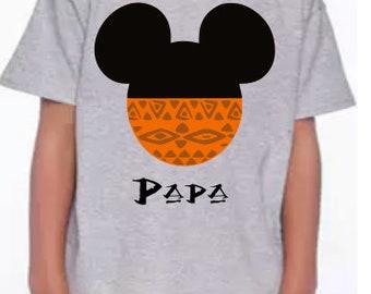 Hawaiian, Polynesian, Hawaiian Shirt, Hawaiian Mickey Head, Polynesian Mickey Head, Polynesian Shirt, Cruise Shirt, Hawaiian Cruise, Maui