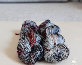 Hand dyed sock yarn, Enough! - Sock- 85 Superwash Merino - 15 Nylon, Handdyed yarn, Handdyed sock yarn