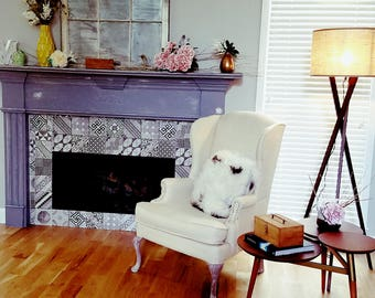 Custom Vintage Wingback Chair