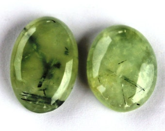 Prehnite Gemstone. Natural Prehnite Cabochon. Prehnite Loose Gemstone 84.5 CTS Oval 30x21x7 MM for Pendants,Rings,Jewelry Supplies Cabochon