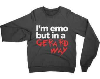 I'm emo but in a Gerard Way Sweatshirt / jumper MCR sweater funny