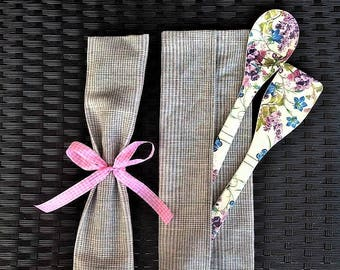 Wooden spoons handmade set, decorative spatulas decoupage, home kitchen decor, floral accents, small gift for her, new home hostess present