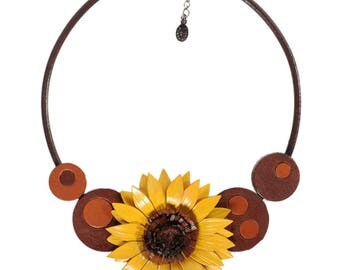 crew neck flowered leather full grain cowhide pop art