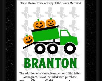 Halloween Svg file- DXF Halloween Cut file- Boys Fall SVG- Dump Truck Svg Iron on- Vinyl Halloween Shirt Svg- Cricut Halloween- Silhouette