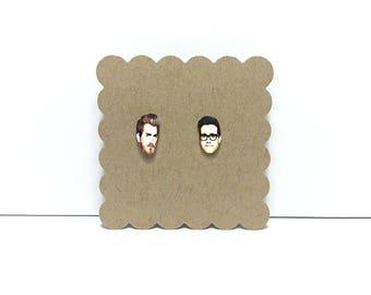 Rhett and Link | Stud Earrings