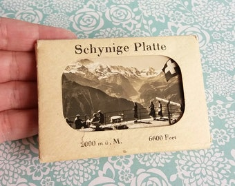 1930's Souvenir Photograph Set of Schynige Platte at 6600ft - Mountain Railway - Highest in Switzerland