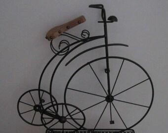 "Vintage 3 Wheel Bicycle, Replica, 20"" L x 21"" W, Wall Hanging, Vintage"
