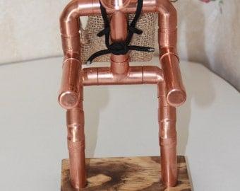 Steampunk Copper Cellphone Holder Conversation Piece