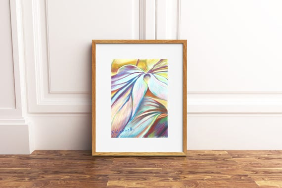 Autumn Leaves, original Drawing by Francesca Licchelli, Contemporary art, abstract painting. Wedding gift idea, living and bedroom wall art.