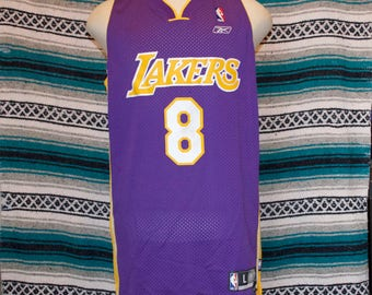 Kobe Byrant Los Angeles Lakers Jersey 8 L Large +2 Length Reebok