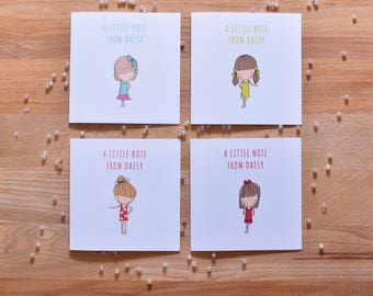 Personalised Best Friends Note Cards Pack of 10 with Envelopes