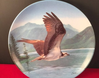 Vintage Collectible Plate/The Osprey - With Box in Majestic Birds of North America by Knowles, Edwin
