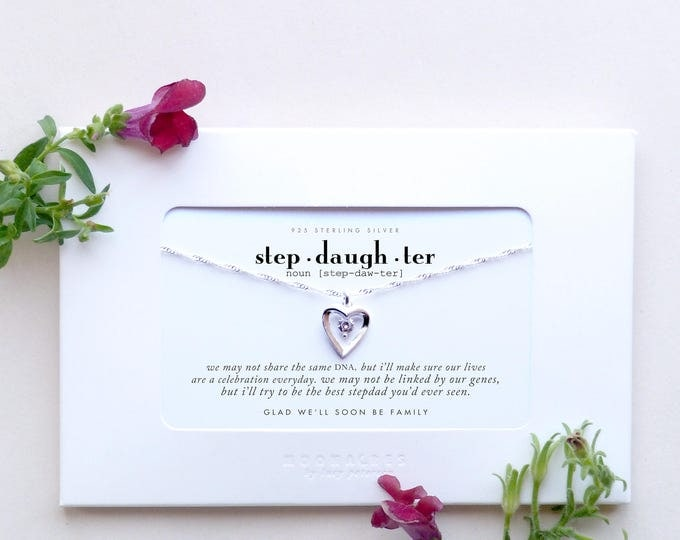 Stepdaughter | Gift From Stepdad Stepfather to New Future Step Daughter | Quote Poem Message Card | Wedding Engagement Rehearsal Dinner Gift