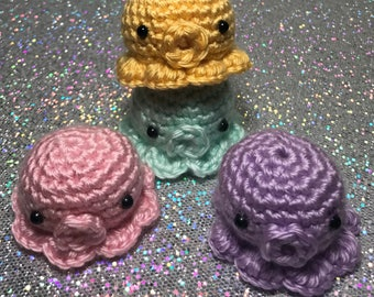 OCTO -  Mini Crochet Octopus Amigurumi, Octopus Plushie, Stuffed Octopus Crochet Plush Toy, Kawaii Plushie, Small Sea Creature Plush